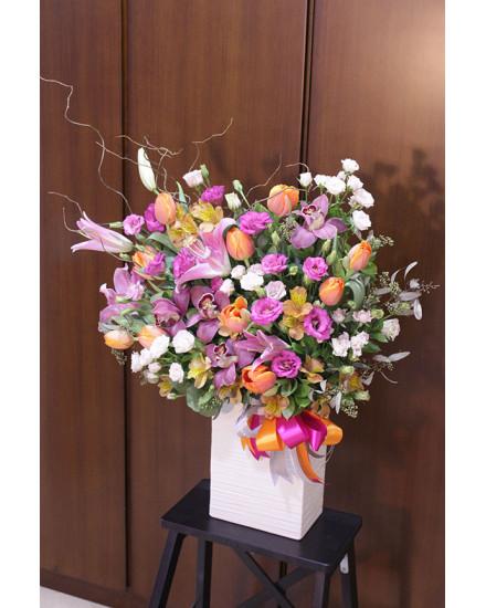 Pink Flower Box