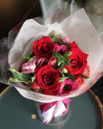 Premium Pink Tulip Bouquet