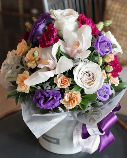 Premium Black Box - White Roses